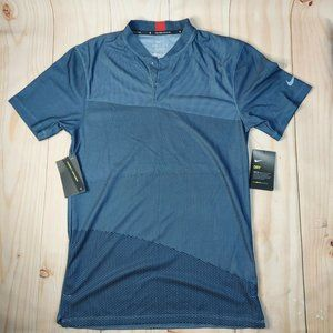 Nike Mens Homme Blue Dri Fit Standard Fit Tiger Wood Collection T Shirt Size XS